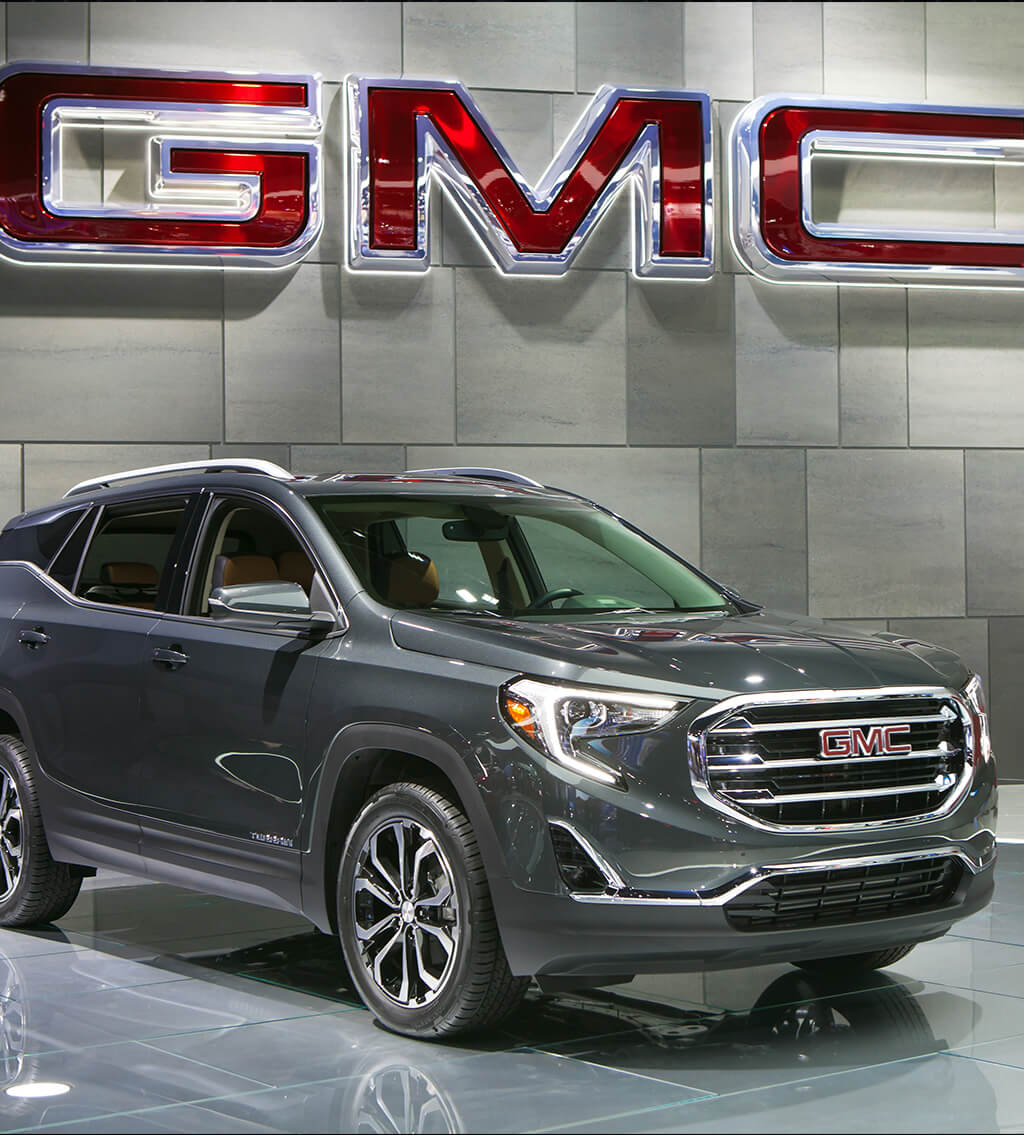 Side view of a GMC Terrain compact SUV