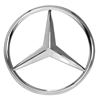 Mercedes-Benz logo, a German manufacturer of luxury and commercial vehicles