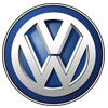 Volkswagen logo, shortened and stylized as VW, a German automobile manufacturer known for the Beetle